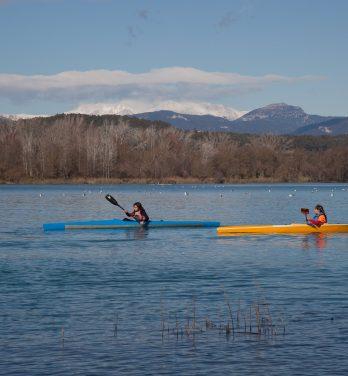 Kajak-Ausflug auf dem See